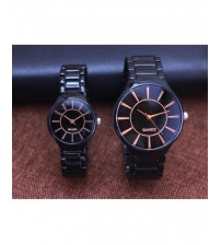 Pack Of 2 Black Couple Watches