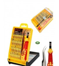 Protonx 33-In-1 Interchangeable Precise Manual Tool Set - Yellow