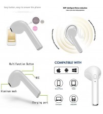 Wireless Earbuds Bluetooth Headphones Sport In-Ear HBQ i7 Sweatproof Earphones with Mic (Super-Stereo Sound, 8 Hours Play Time, Secure Fit Design)