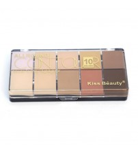 Kiss Beauty 10 Color CONTOUR KIT
