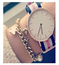 Nylon Strap Watch for Women - Multicolour