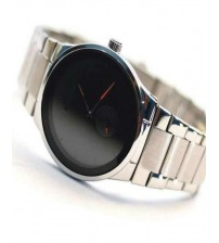 Black Stylish Watch For Men With Date