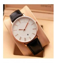 Black and White Stylish Watch For Men With Date