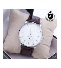 Brown & White Wrist Watch Just For Men