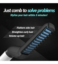 Hair and Beard Brush , Modelling Comb Curler Straightener Hot Hair Ceramic-Iron Styling