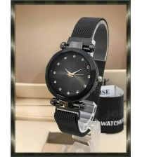 Deemiz Collection Mesh Black Magnet Watch for Girls - Women 599 + 100 Delivery Charges