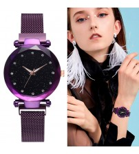 Deemiz Collection Mesh Purple Magnet Watch for Girls - Women