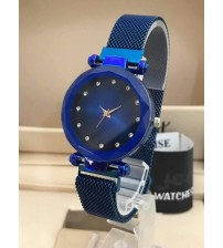 Deemiz New Blue Magnet Strap Watch for Girls