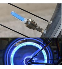 2 Pcs of Motion Activated LED Flash Light Tyre Wheel Valve - Cycle Bike Car Glow In The Dark