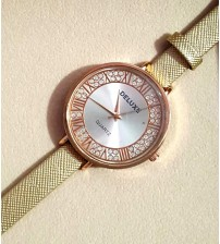 Deemiz Glden Strap Watch for Women