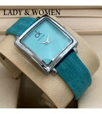 Deemiz Green Square Dial Watch for Women