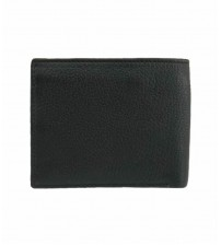 Cow Leather Bifold Wallet for Men - Black