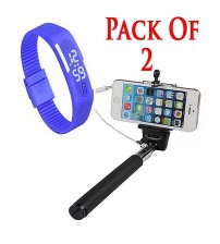 Pack Of 2 - Sports LED Watches + Selfie Stick