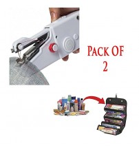 Pack Of 2 - Handy Stitch Sewing Machine + Roll N Go Cosmetic Bag