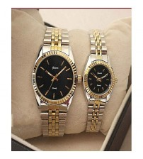 Geneva Pair of Couple Watches - Unisex