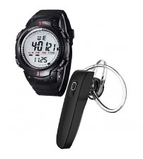 Pack of 2 - Sports watch and Bluetooth Handsfree