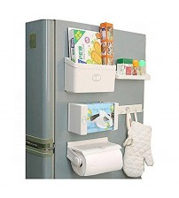 5-In-1 Wall Mounted Kitchen Paper Dispenser - White