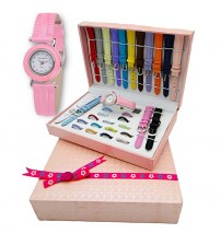 16 Piece Interchangeable Bezel & Strap Watch Set