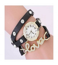 Deemiz Pack of 3 - Love Double Bracelet Watches for Women