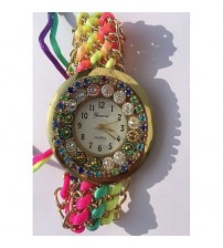 Deemiz Multicolor Thread Strap Watch for Women