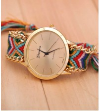 Hand Made Thread Knitted Analog Watch For Women - Multicolor