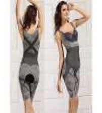 Natural Bamboo Charcoal Body Shaper Underwear Slimming Suit