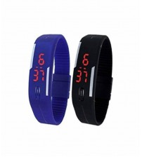 Pack of 2 LED Bands - Black and Blue