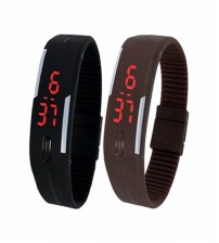 Pack of 2 LED Bands - Black and Brown