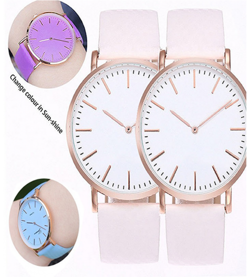 Deemiz - Pack of 2 - Sun UV Color Change Watch,Blue & Purple - Adjustabl