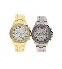 Pack of 2 Silver And Golden Watches for Women