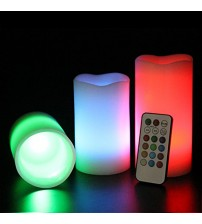 Luma Pack of 3 LED Candles with Remote