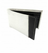 Cow Leather Bifold Wallet for Men - Black & White