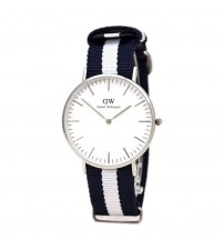 Elegant DW Analogue Watch with Nylon Strap