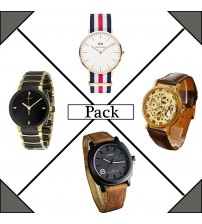 Pack of 4 Analogue Watches for Men/Women