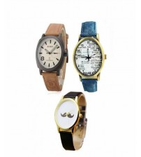 Pack of 3 Analogue Watches for Men/Women
