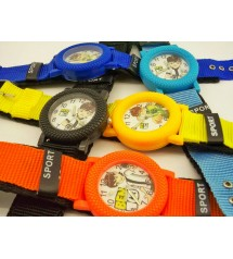 Pack of 5 Cartoon Character Watches for kids
