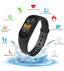 New M5 Smart Bracelet Fitness Tracker Heart Rate Monitor Smart Band Blood Pressure Sport Watch Smart Bracelet for Men and Women for IOS Android M5 Touch Led Bracelet Digital Watch Band