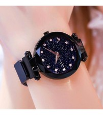Black Magnet Chain Watch For Girls