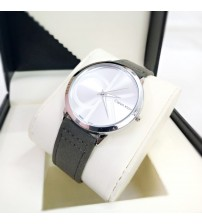 CK Watch with Leather Belt for Him and Her New Business Style Watch
