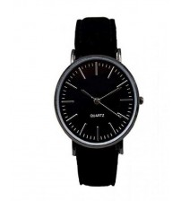 Black Leather Watch For Women