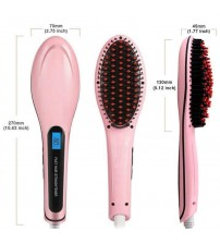 FAST Electrical Hair Styling & Straightener Brush - Pink