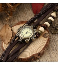 Brown Leather Ladies Watch for Women-Girls- Rs. 499 (Free Delivery)