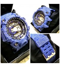 Denim Style Strap Sports Watch for Men and Boys