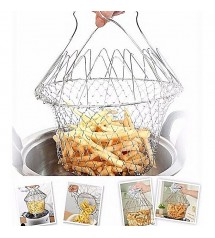 Chef Basket 12 in 1 Kitchen Tool Deluxe Boiler, Steamer, Strainer & Frying
