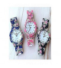 Geneva Pack Of 3 - Floral Watches For Women
