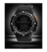 Army Black Rubber Tactical Watch for Men - Black