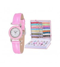 Girl Watch Set with Interchangeable Strap and bezels