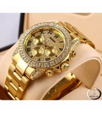 Full Golden Watch with Auto Date - RGOLD