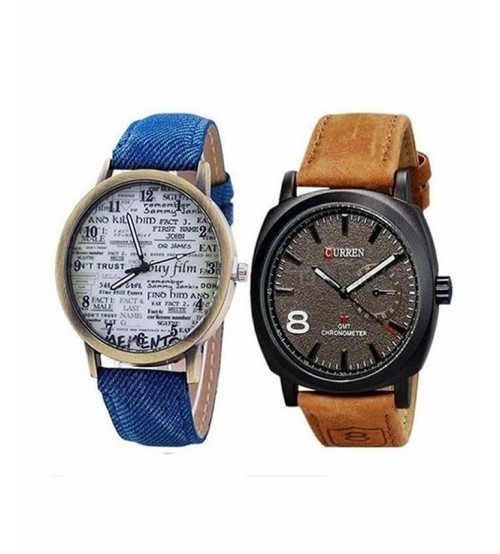 Pack of 2 Watches for Men/Women