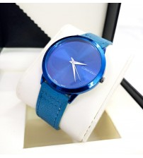 CK Watch with Blue Leather Belt for Him and Her New Business Style Watch